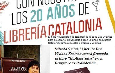 """Firma de libro """"El Alma Sabe"""" en el Vigésimo Aniversario de Librería Catalonia"""